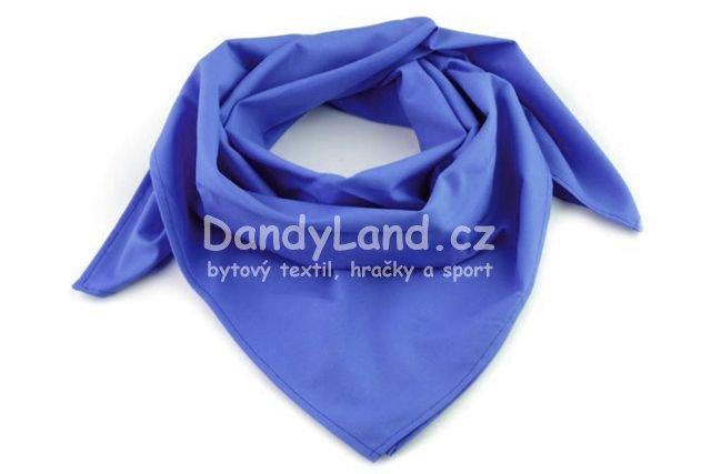 8ad87060214 Bavlněný šátek - barva azurově modrá