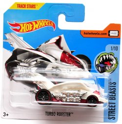 Hot Wheels angličák Turbo Rooster, Street Beasts 1/10